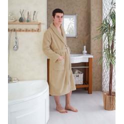 Махровый халат MORA унисекс бежевый 3 XL