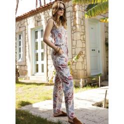Женская пижама комбинезон-брюки для дома и отыха