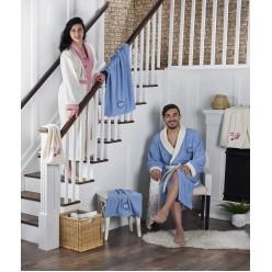 Подарочный набор халатов махровый контрастный семейный ADRA с полотенцами