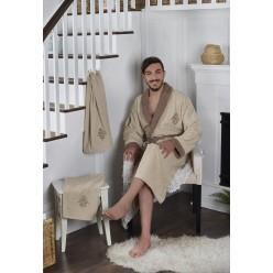 Подарочный набор халат махровый с полотенцами ADRA L/XL