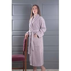 Женский махровый халат MORA лаванда 2 XL