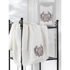 Подарочный набор махровое полотенце лицевое из хлопка DAVIS серый
