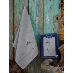 Подарочный набор махровое полотенце лицевое из хлопка ROTA зеленый