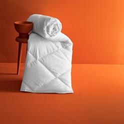 Одеяло стеганое теплое KARNA хлопок ROYAL 195x215 белое
