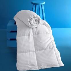 Одеяло стеганое мягкое KARNA сатин полосатый VIA 155x215