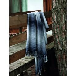 Мягкий уютный акриловый плед KALMAR синий в клетку 150x200