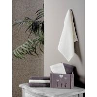 Подарочный набор махровых салфеток для рук из хлопка 6 шт в корзине FLORI