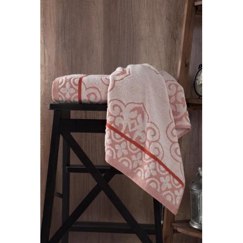Махровое полотенце из хлопка для рук с изящным рисунком TUNUS