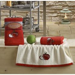 Кухонные полотенца LEMON Красный 2 шт.