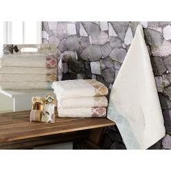 Полотенца в подарок махровые с жаккардовым орнаментом ESTELLE 50х90 - 4 шт.