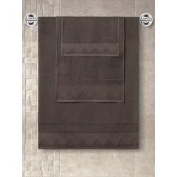Полотенце из хлопка для лица SIESTA коричневое 40x60