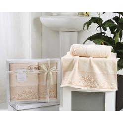 Комплект махровых полотенец BEYZA