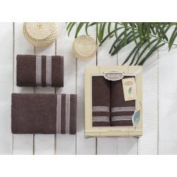 Подарочный комплект махровых полотенец PETEK абрикосовый