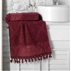 Махровое полотенце из хлопка банное жаккард OTTOMAN с кисточками