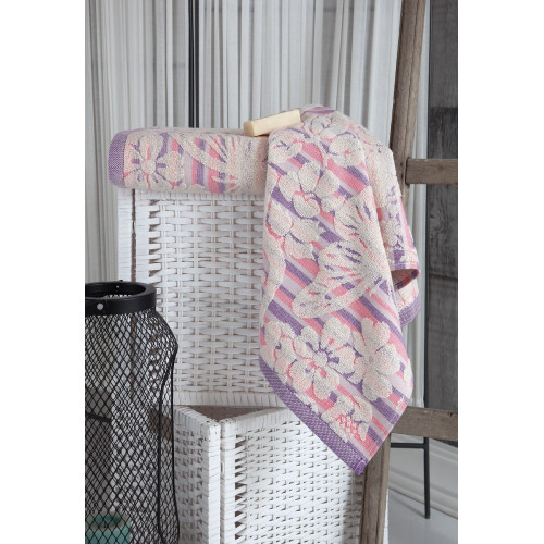 Махровое полотенце из хлопка для лица MARIPOSA с узорами