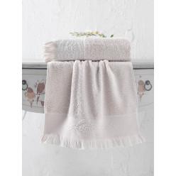 Махровое полотенце из хлопка банное жаккард DIVA с бахромой