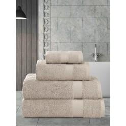 Пушистое банное полотенце из хлопка AREL макси капучино 100х150