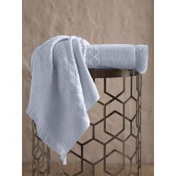 Пушистое бамбуковое полотенце для лица MONARD с бахромой