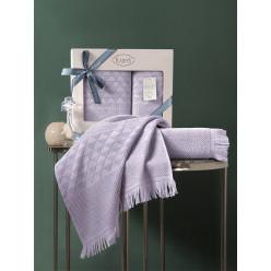 Подарочный комплект махровых полотенец бамбук MONARD пудра