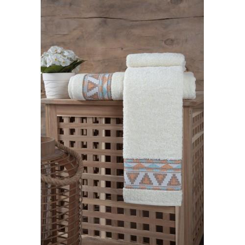 Махровое полотенце из хлопка для лица GIZA с орнаментом