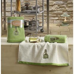 Кухонные полотенца LEMON Зеленый 2шт.