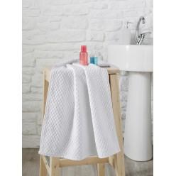 Махровое полотенце из хлопка с жаккардом DAMA