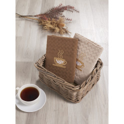 Подарочный набор вафельных полотенец на кухню из хлопка 2 шт SALVA