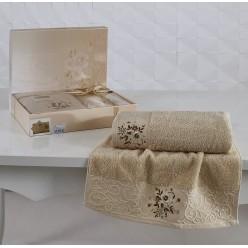 Комплект махровых полотенец VIOLA капучино