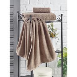 Махровое полотенце однотонное из хлопка для лица или кухни EFOR