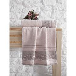 Махровое полотенце из хлопка банное с жаккардом MERVAN