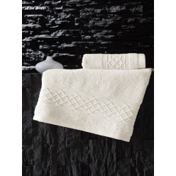 Махровое полотенце из хлопка для лица GRAVIT с орнаментом