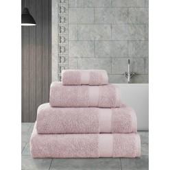 Пушистое банное полотенце из хлопка AREL розовое 70х140