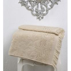Махровое полотенце из хлопка банное ESRA с бахромой