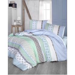 Подростковое постельное белье из ранфорса в широкую полоску 1,5 спальное JUSTO