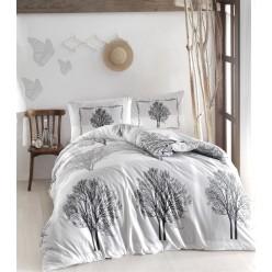 Постельное белье из ранфорса белое с деревьями 1,5 спальное TREE