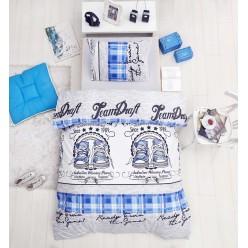 Детское постельное белье из ранфорса белое 1,5 спальное MOLLY