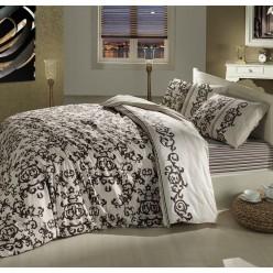Постельное белье из ранфорса бежевое 1,5 спальное SUAVE