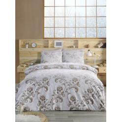 Постельное белье из ранфорса белое с орнаментом 1,5 спальное LUCIAN