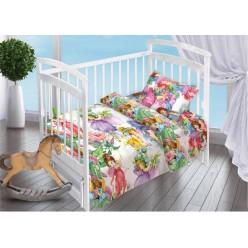 Детский комплект постельного белья для новорожденных поплин Сказочные Феи белый
