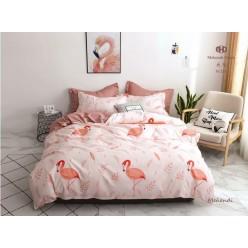 Детское постельное белье двустороннее нежно розовое с цаплями