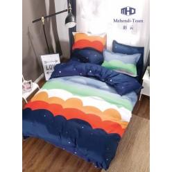 Детское двустороннее постельное белье софткоттон темно синее