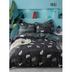 Детское двустороннее постельное белье софткоттон черное с созвездиями