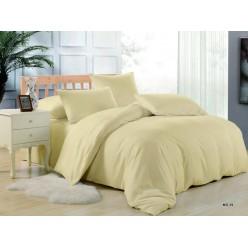 Комплект постельного белья однотонный желтый