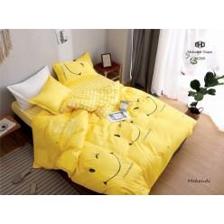 Детское постельное белье двустороннее ярко желтое с улыбкой