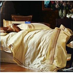 Постельное белье из шелкового жаккарда золотое