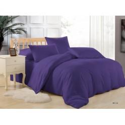 Комплект постельного белья однотонный фиолетовый
