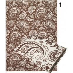 Одеяло хлопковое коричневое с турецкими огурцами 170x205