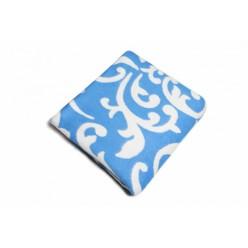 Одеяло хлопковое голубое с узорами