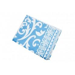 Одеяло хлопковое голубое с орнаментом