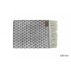 Плед BLANKET серый с орнаментом